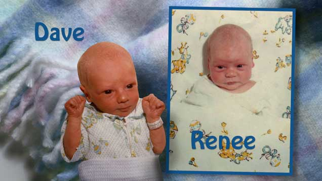 Babies from photomontage